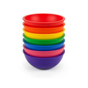 Lollaland Bowls (Rainbow Assortment) - Made in USA, Microwave-safe, Dishwasher-safe, BPA-free
