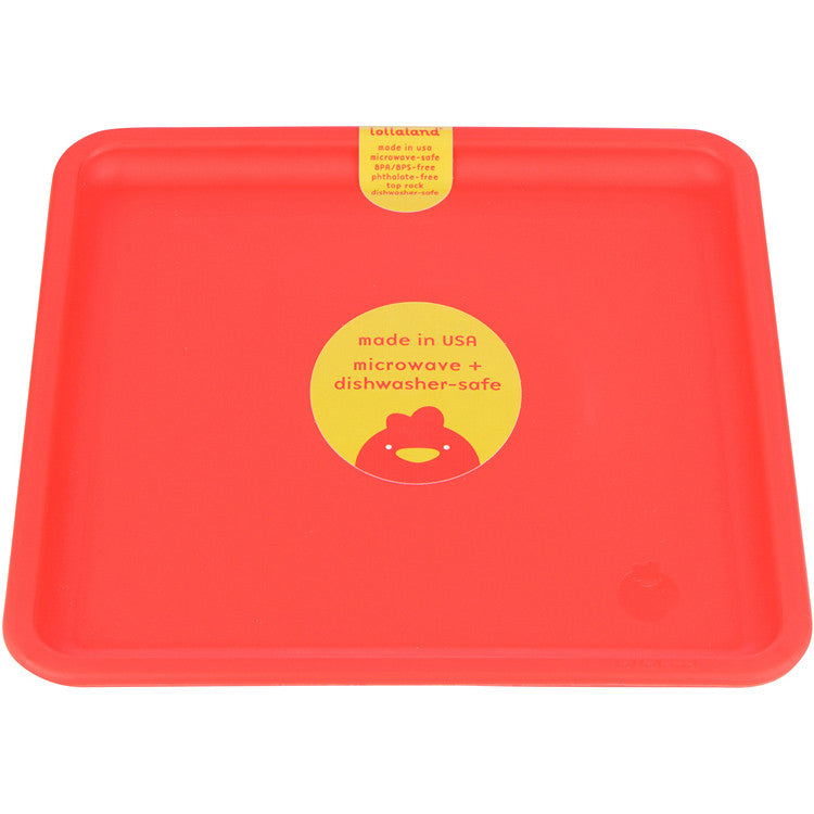 Lollaland Mealtime Plate: US-made Sold Individually Kid-Sized Microwave-Safe