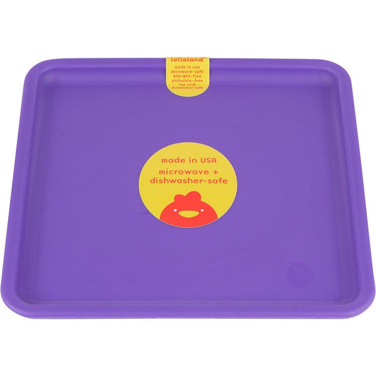 Sold Individually Kid-Sized Microwave-Safe Lollaland Mealtime Plate: US-made