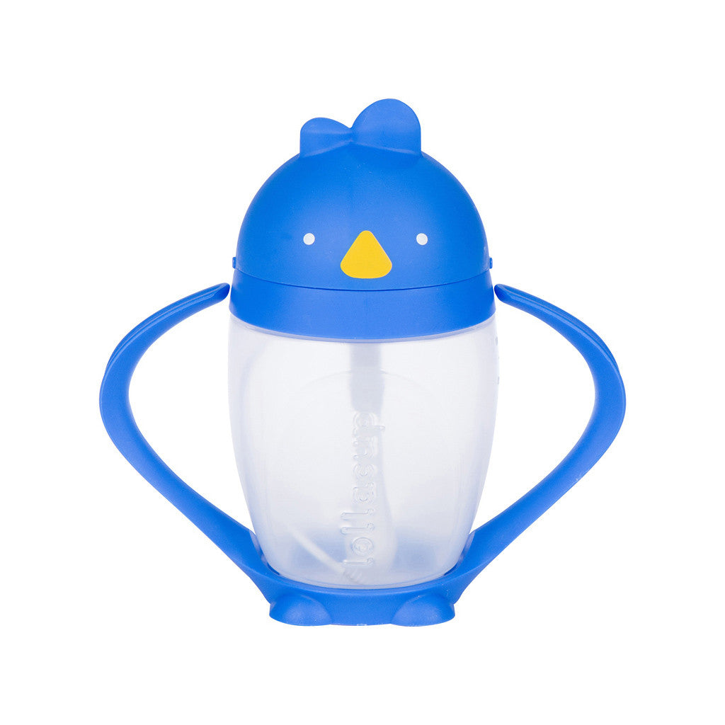 Blue weighted straw sippy cup