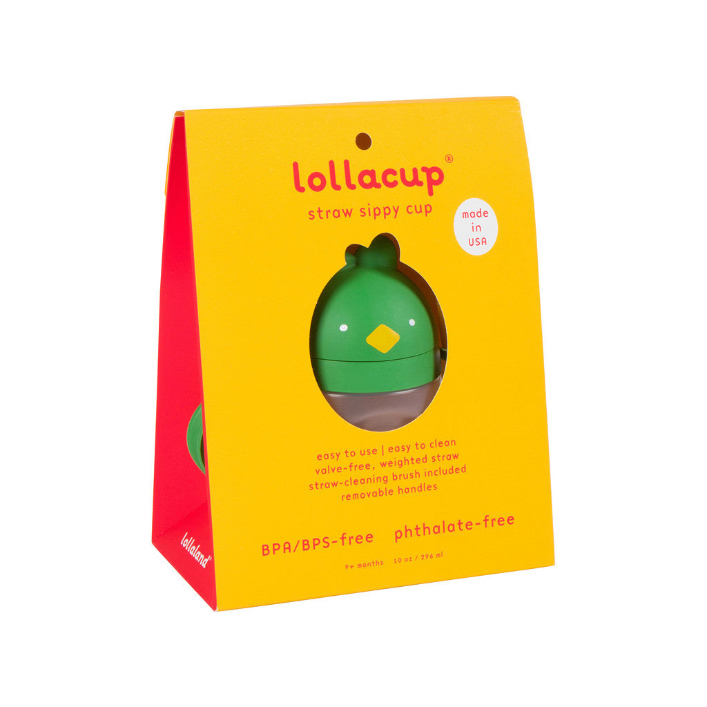 Green Sippy Cup in retail packaging