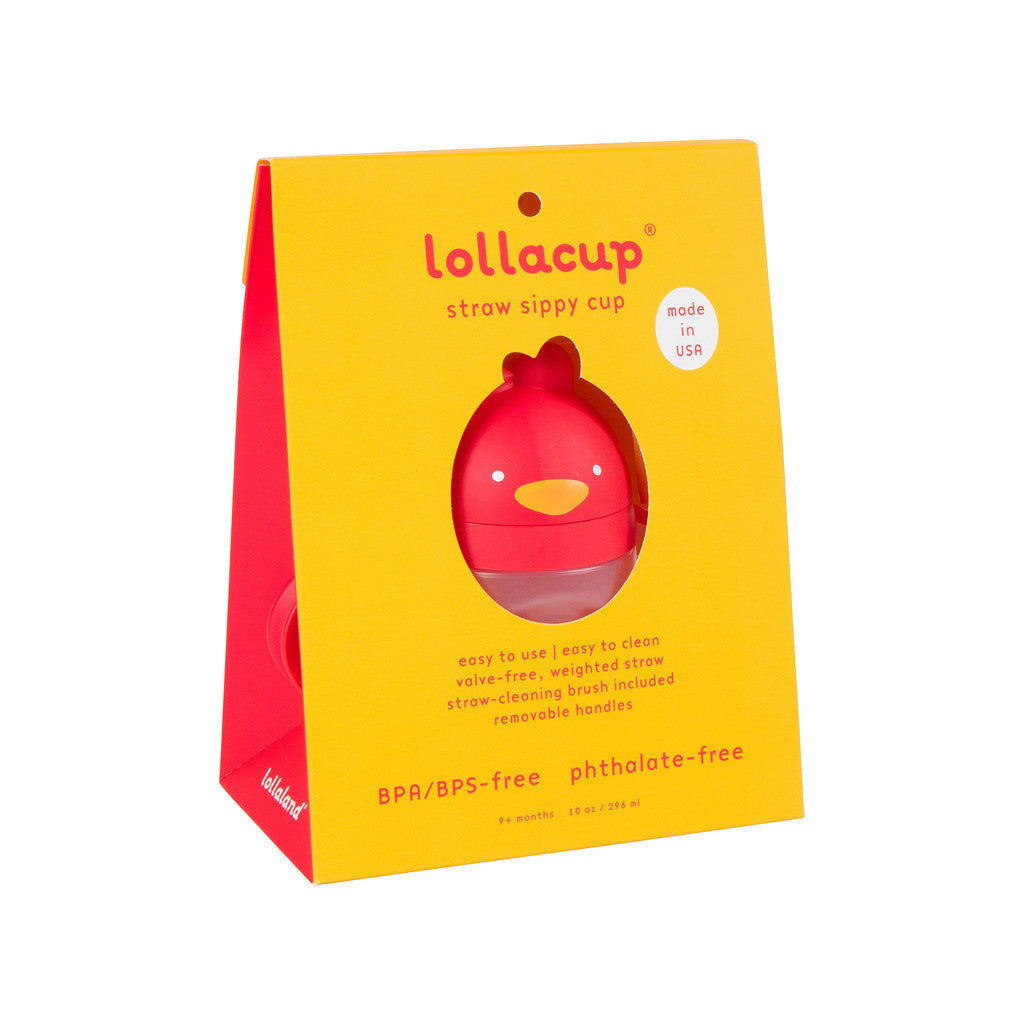Red Lollacup from shark Tank in packaging