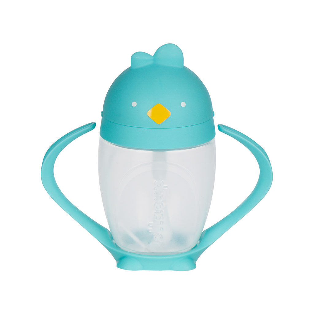 Turquoise Sippy Cup with weighted straw