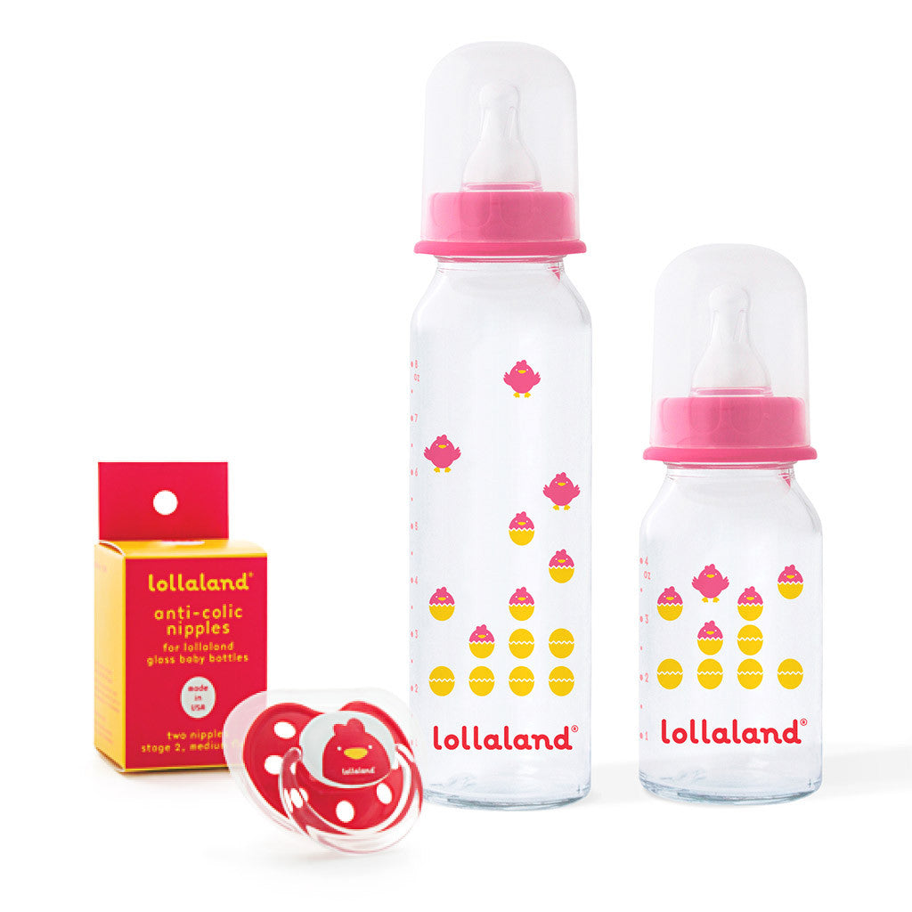 Glass Baby Bottle Gift Set Lollaland