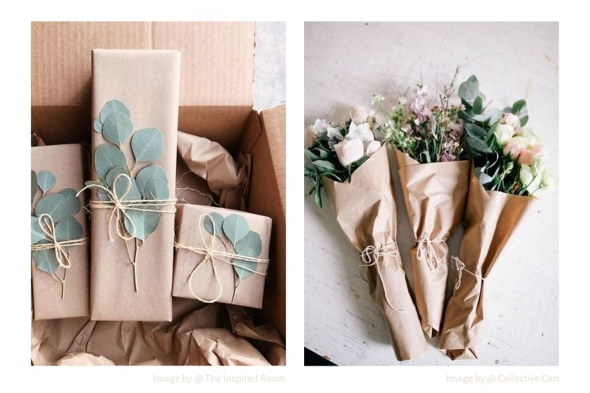 kraft paper gift wrapping