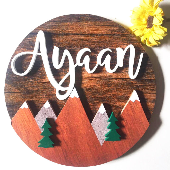 Nameplate - Mountain Circular (Single)