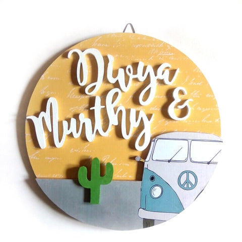 Nameplate - Van Circular (Couple)
