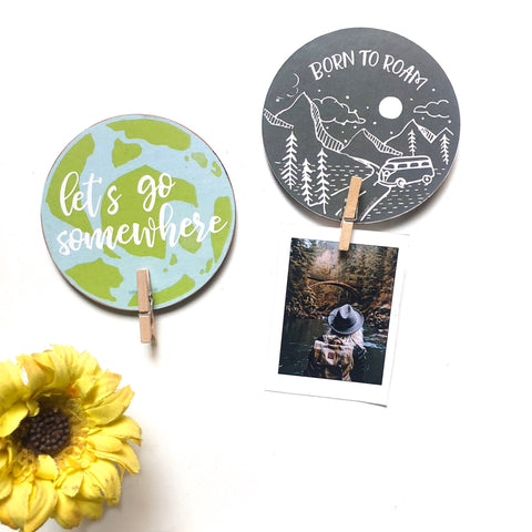 Clip Magnet - Travel (Set of Two)