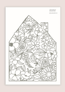 Colour-In Page - Home