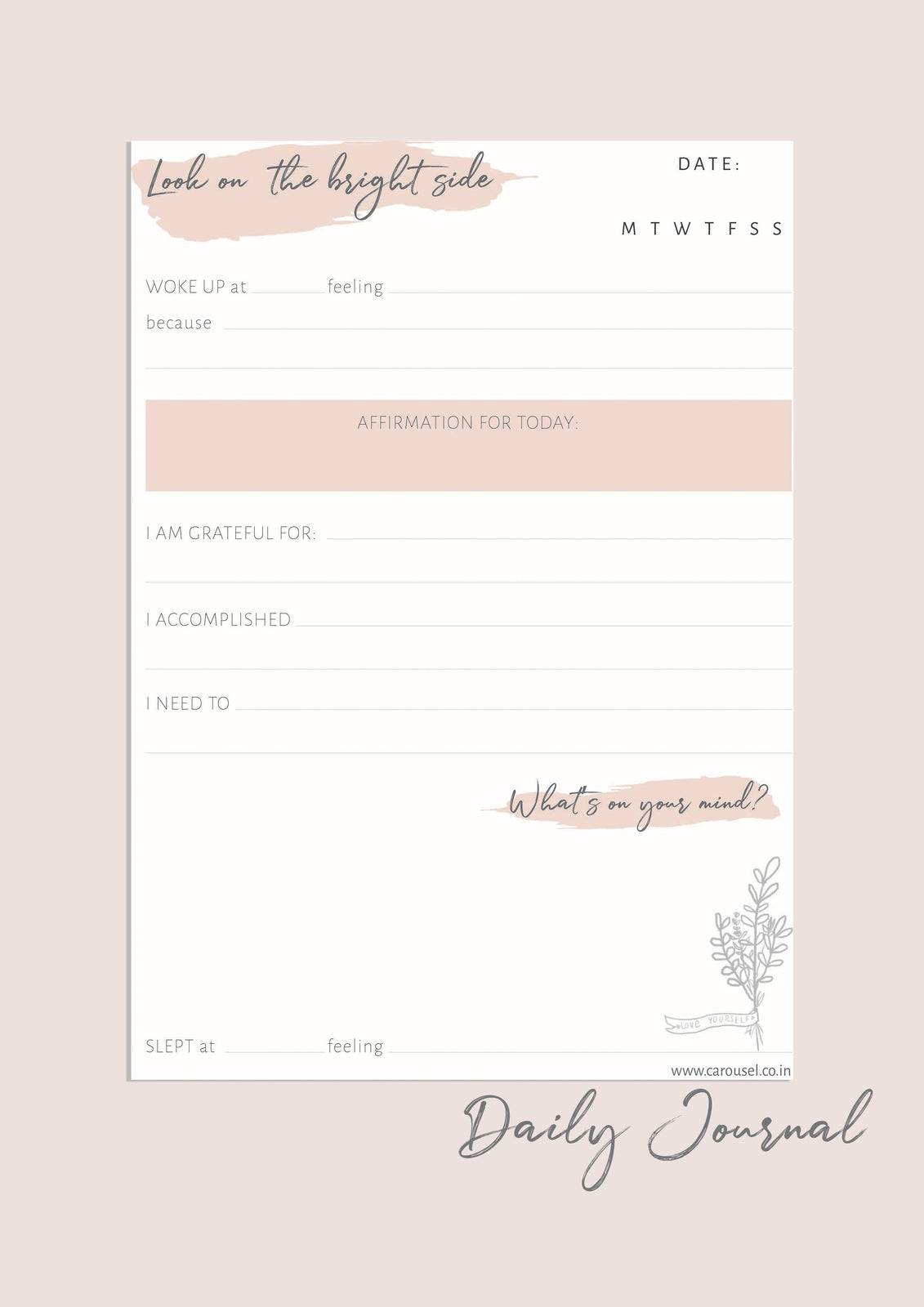 Printable Journal - Daily Journal