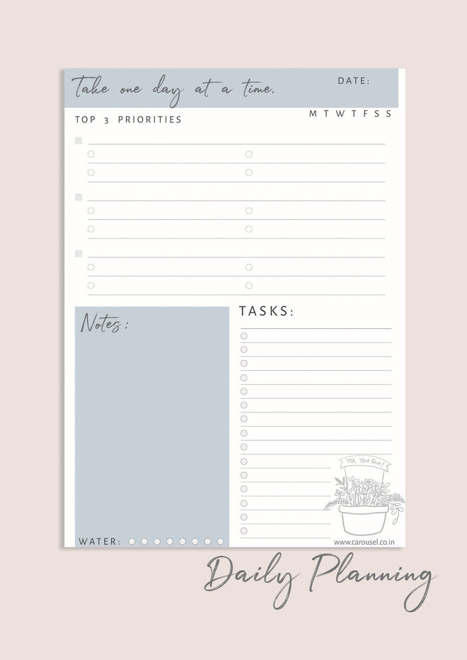 Printable Planner - Daily Plan