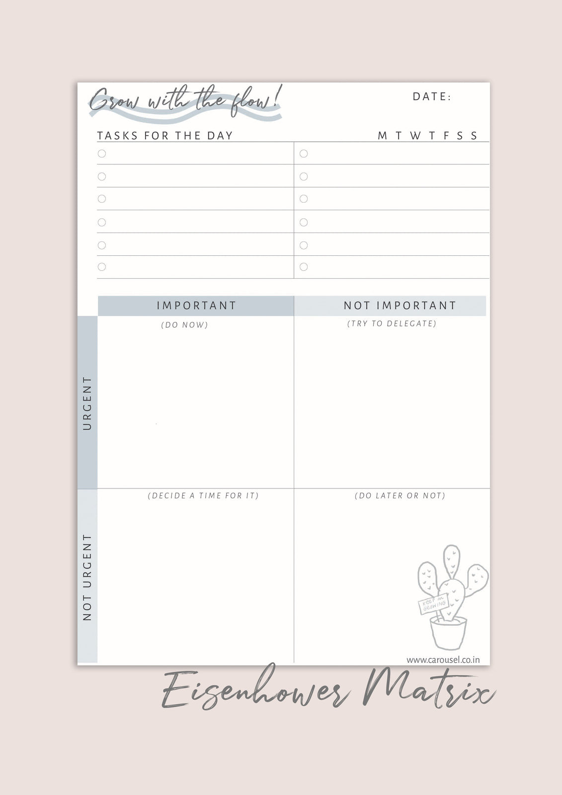 Printable Planner - Eisenhower