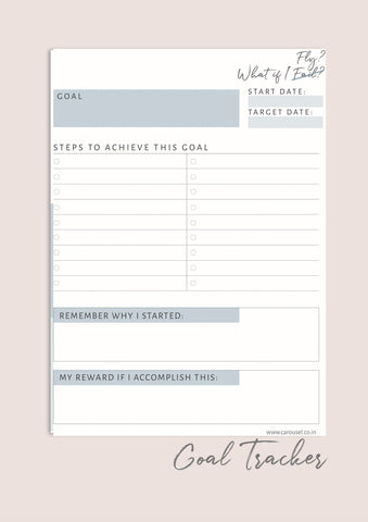 Printable Planner - Goals