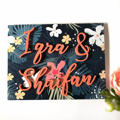 Nameplate - Tropical (Couple)