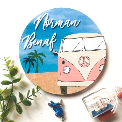 Nameplate - Beach Circular (Couple)