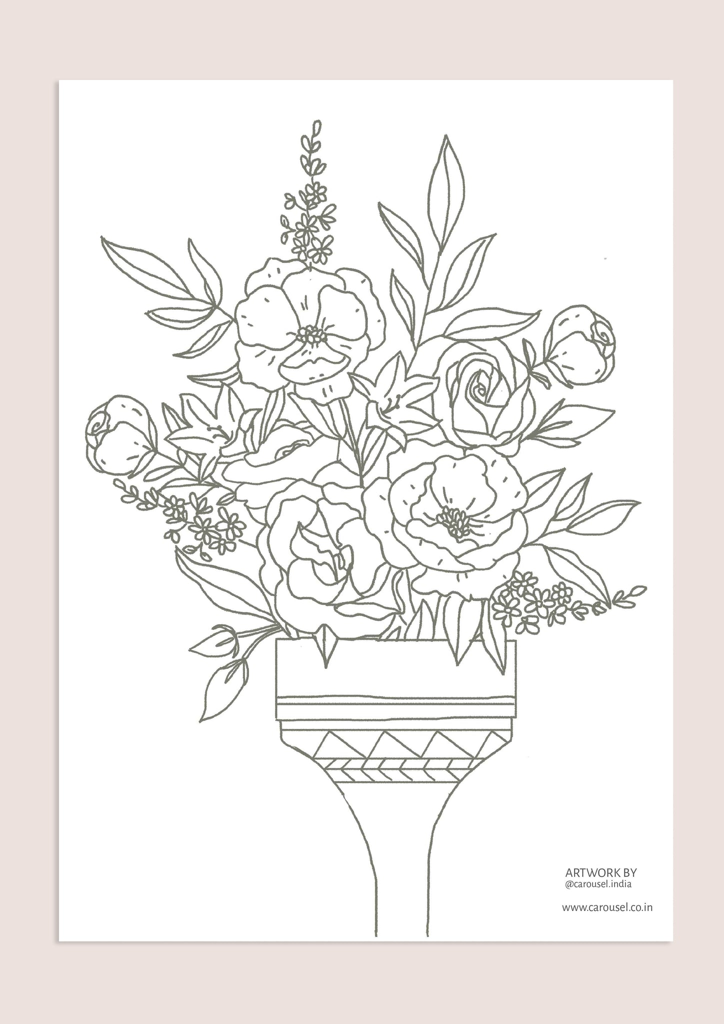Colour-In Page - Paint Brush