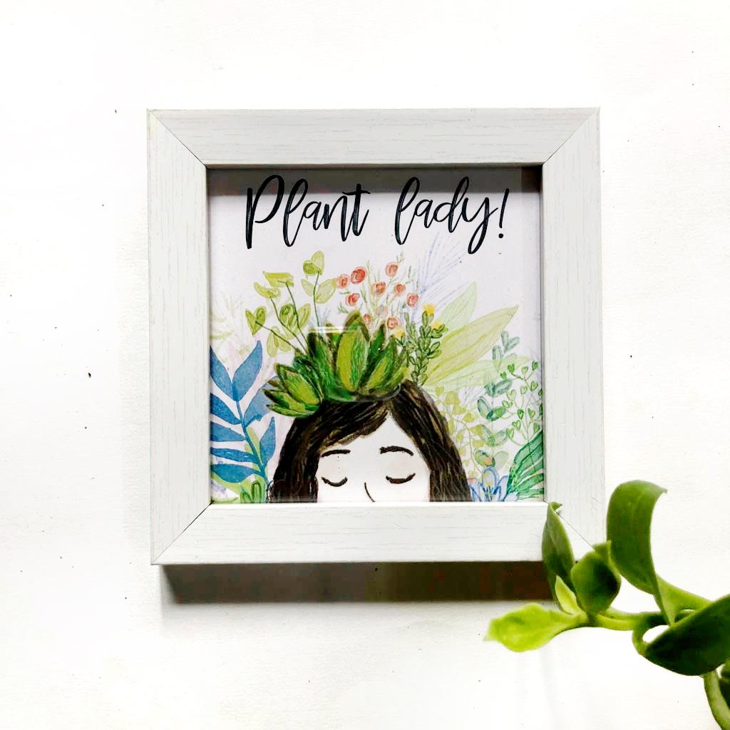 Quote Frame - Plant Lady