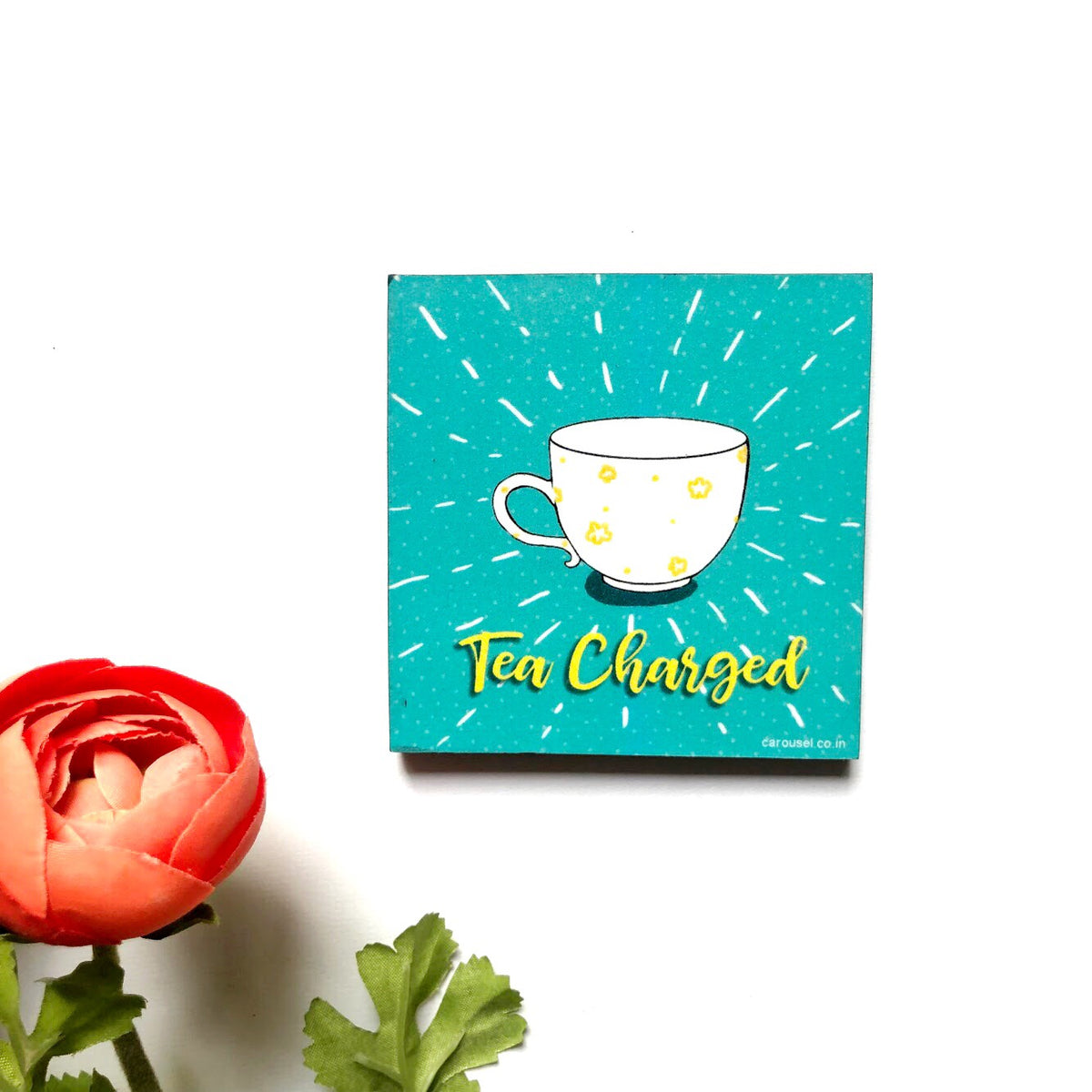 Square Magnet - Tea Charged