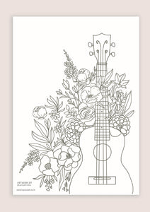 Colour-In Page - Ukulele