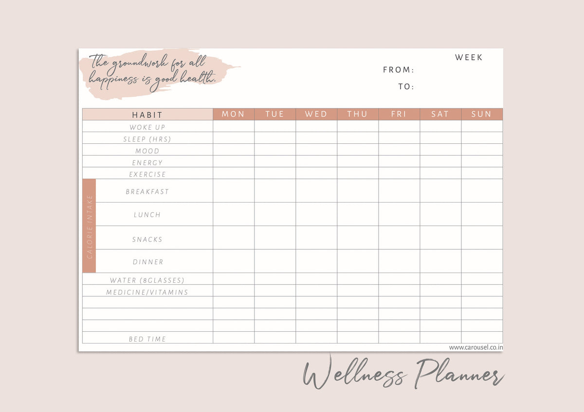 Printable Journal - Wellness Planner