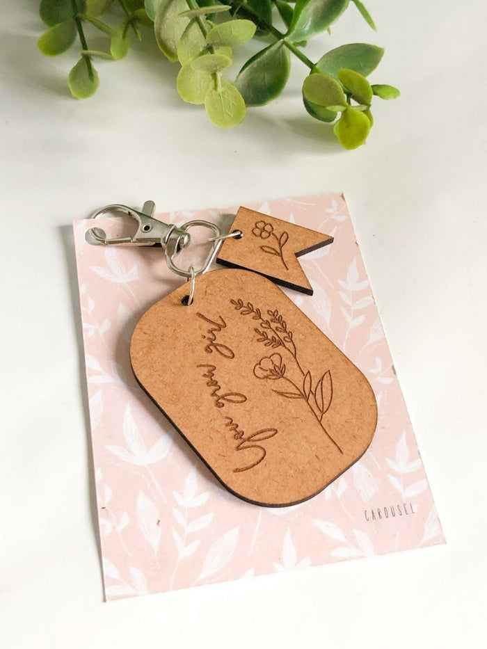 Key Chain / Bag Charm - You Grow Girl
