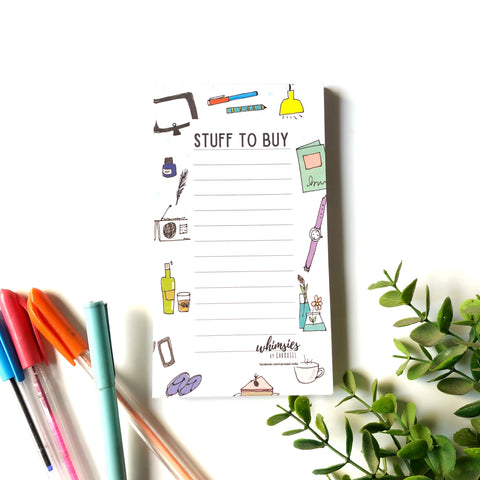 Memo Pad - Stuff to Buy