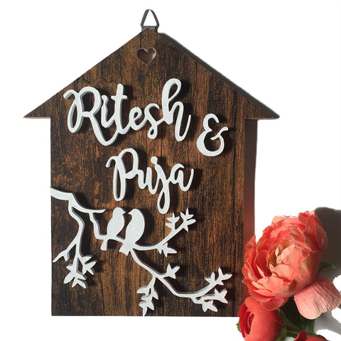 Nameplate - Bird House (Couple)