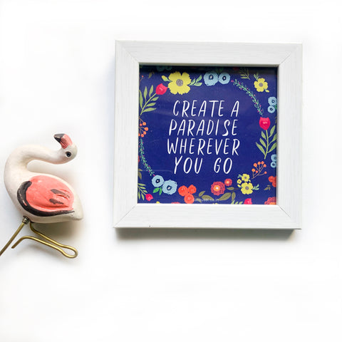 Quote Frame - Paradise