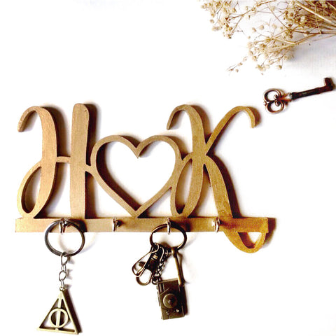 Wooden Cutout - Couple Initials