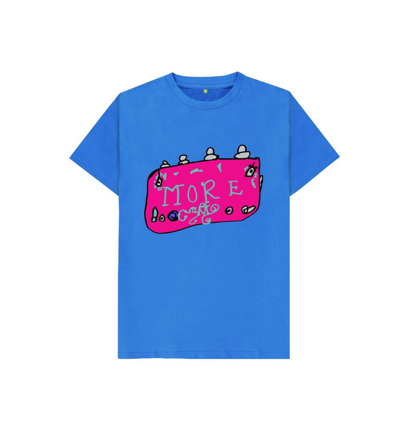 Bright Blue MORE! Kids T-Shirt