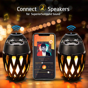 【2 IN 1】 Flame Light Bluetooth Speaker for iPhone/iPad /Android