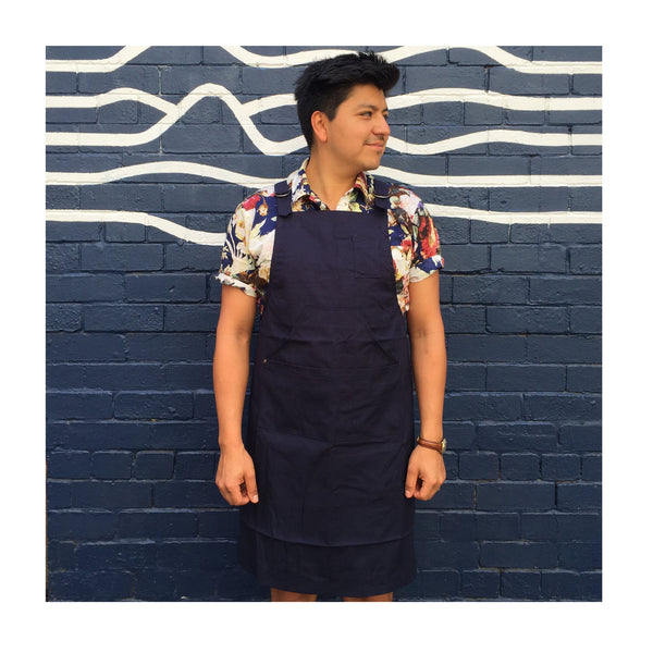 Seven Seeds Apron Navy