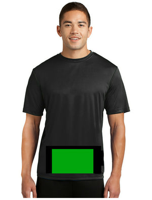attached front panel solid color tee Black
