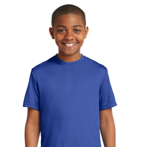 attached front panel solid color children's tee Royal Blue