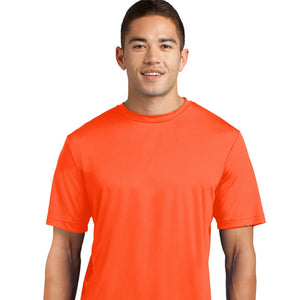 attached front panel solid color tee Orange