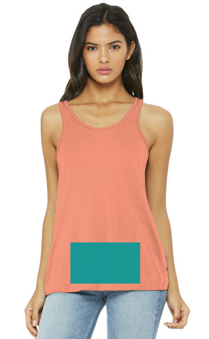 attached front panel racerback tank top Sunset