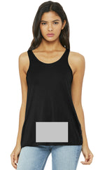 attached front panel racerback tank top Black
