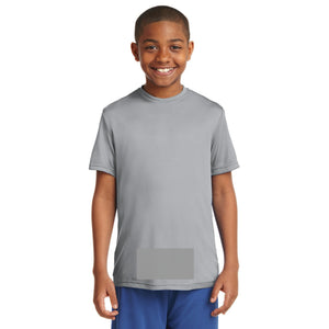 attached front panel solid color children's tee Silver