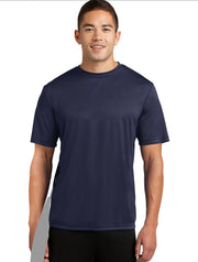 detachable panel, navy blue tee