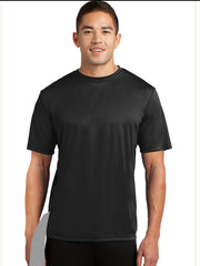 detachable panel, black tee