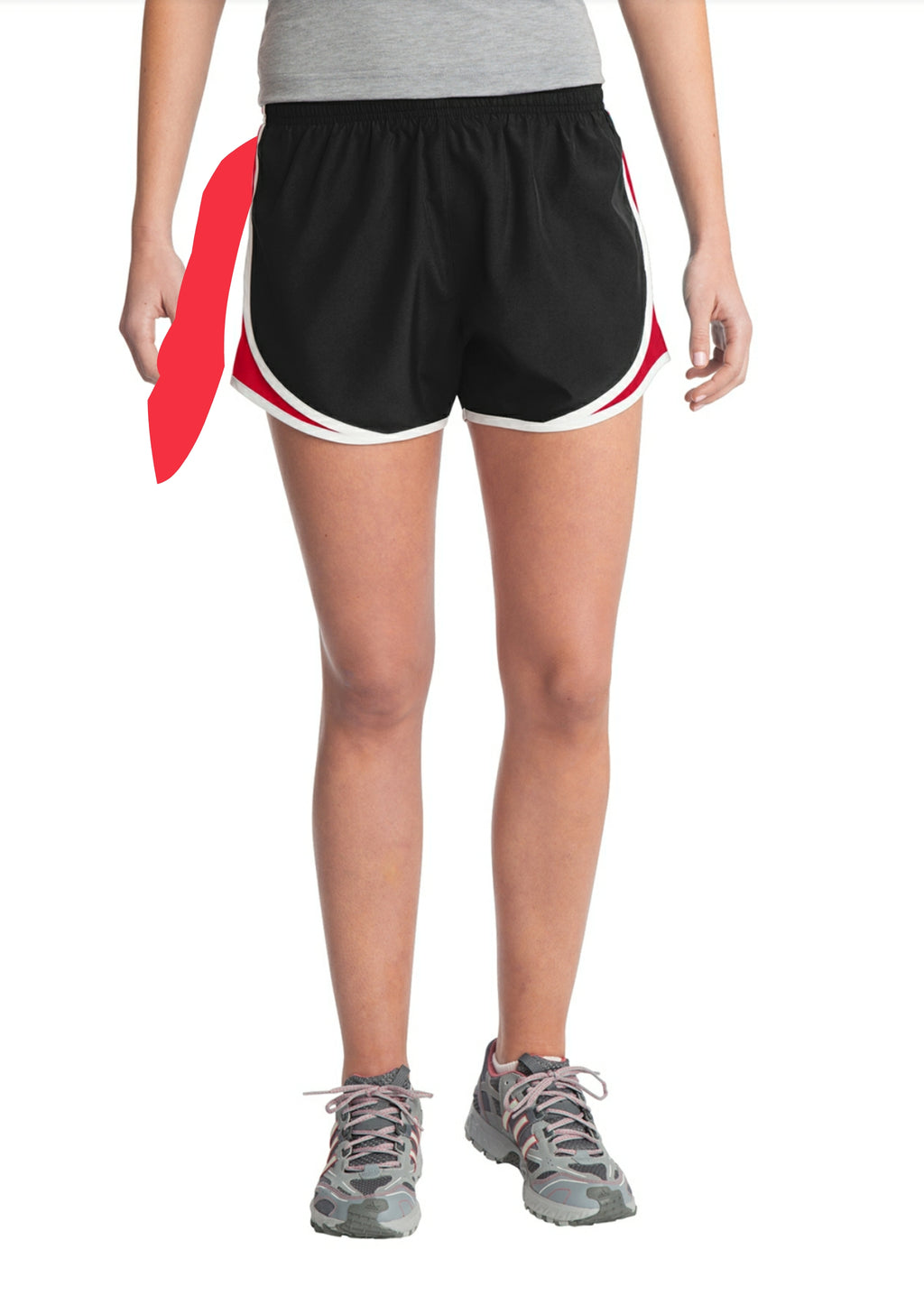 Sweaty Tee - Women's Shorts - black, red, white