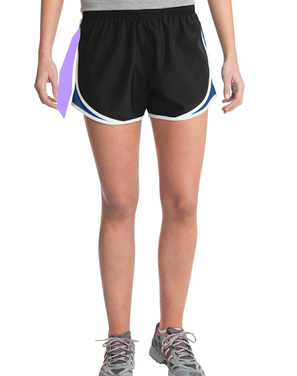 Sweaty Tee - Women's Shorts - black, royal, white