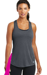 detachable panel with snap fastener, racerback tank top - gray