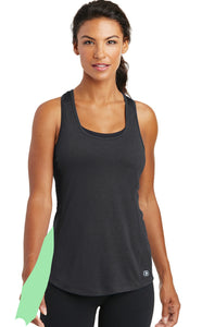 detachable side panel with snap fastener, racerback tank top - black
