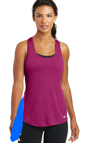 detachable panel with snap fastener, racerback tank top - pink berry