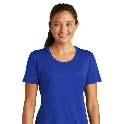 detachable panel with snap fastener, royal blue tee