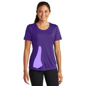 detachable panel with snap fastener, tee - purple