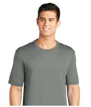 men's short sleeve panels - concrete gray tee