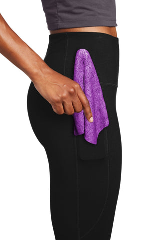 purple mini-towel