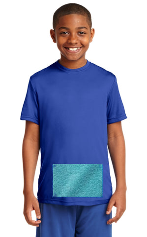 Youth Tee with Attached Mini-Towel, Royal Blue Tee